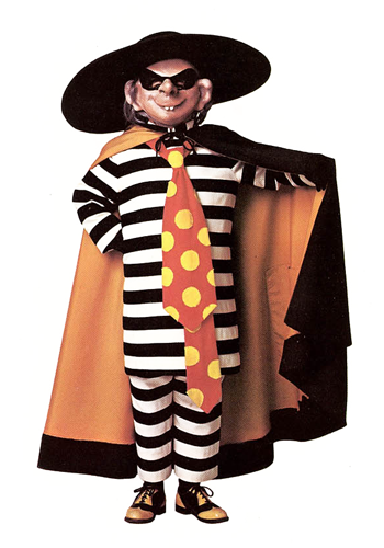 the mcdonaldland fun times hamburglar costume for halloween