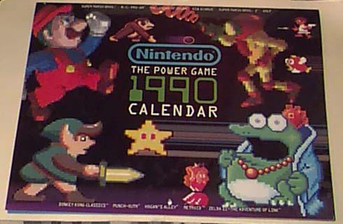 1990 Calendar.Nintendo 1990 Calendar